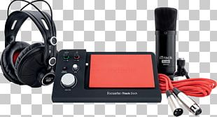Microphone Focusrite ITrack Dock Recording Studio Sound Recording And Reproduction PNG
