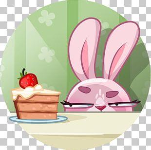 Rabbit Telegram Sticker VK Illustration PNG