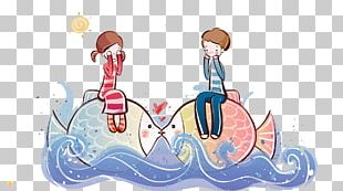 Cartoon Couple High-definition Television Drawing PNG