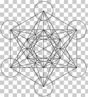 Sacred Geometry Overlapping Circles Grid Metatron PNG