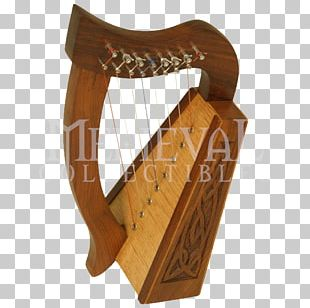 Celtic Harp Lyre String Musical Instruments PNG