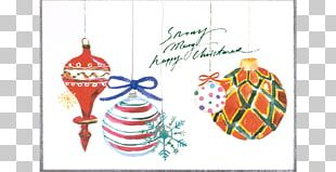 Christmas Ornament Gift Line Pattern PNG