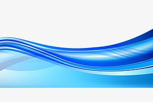 Blue Shading Curves PNG