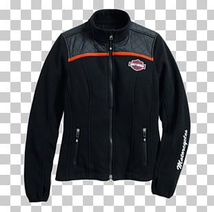 Fleece Jacket Polar Fleece Leather Jacket Harley-Davidson PNG