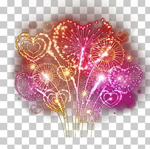 Fireworks Heart Photography PNG