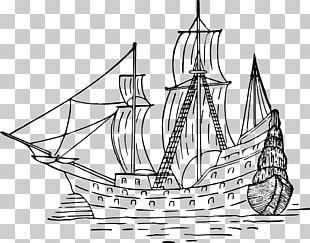 Sailing Ship Drawing Boat PNG