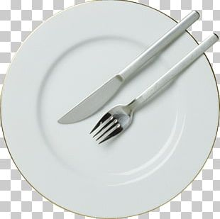 Fork Knife Plate PNG