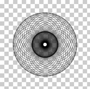 Sacred Geometry Spirograph Circle Spiral PNG