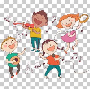 Child Musical Instrument Illustration PNG