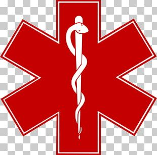 Star Of Life Emergency Medical Services Paramedic Emergency Medical Technician Decal PNG