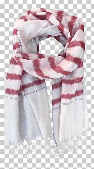 Scarf Passion Lilie White Red Green PNG
