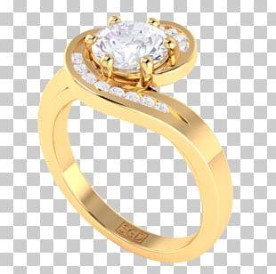 Engagement Ring Brilliant Diamond Cut PNG