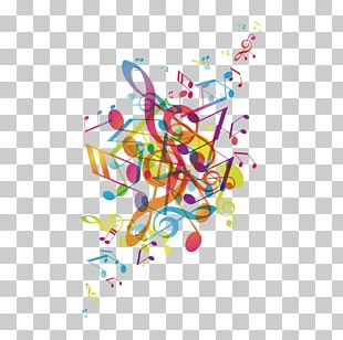 Graphic Design Musical Note Poster Illustration PNG