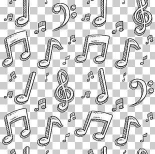 Musical Note Doodle PNG