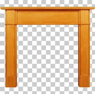 Table Fireplace Mantel Wood PNG