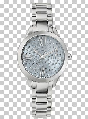 Watch Strap Titan Company Silver Analog Watch PNG