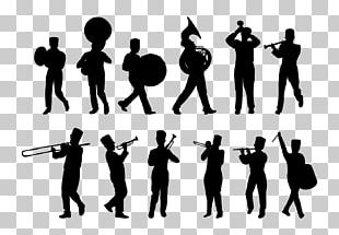 Silhouette Marching Band Musical Ensemble PNG