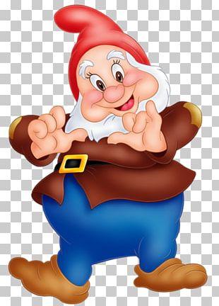 Snow White Seven Dwarfs Grumpy Dopey Sneezy PNG