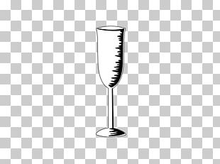 Wine Glass Champagne Glass Black And White Pattern PNG