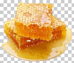 Comb Honey Honeycomb Bee Delicatessen PNG