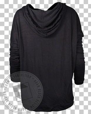 Hoodie Shoulder Sleeve Black M PNG