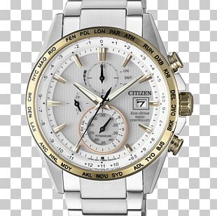 Eco-Drive Citizen Holdings Radio Clock Watch Chronograph PNG