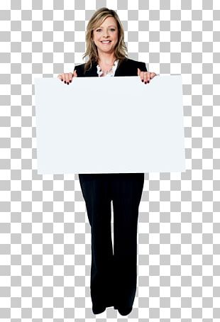 Woman Advertising Web Banner PNG