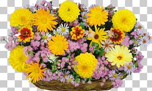 Flower Bouquet Basket PNG