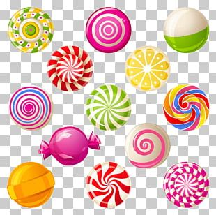 Lollipop Candy Cane Cotton Candy PNG