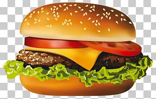 Hamburger Hot Dog Fast Food Cheeseburger Pizza PNG