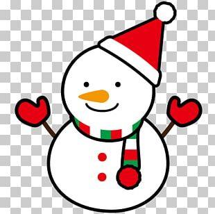 Winter Snowman Illustration. PNG
