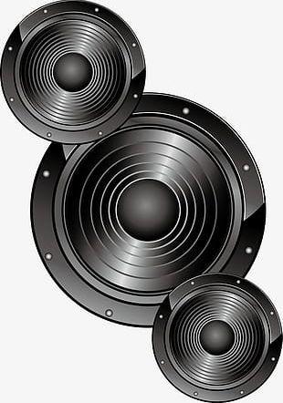 Black Circle Sound PNG