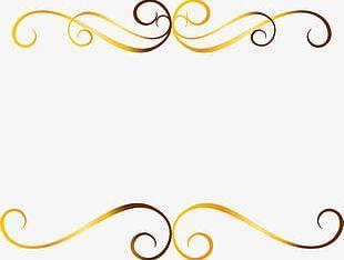 Golden Glitter Line PNG