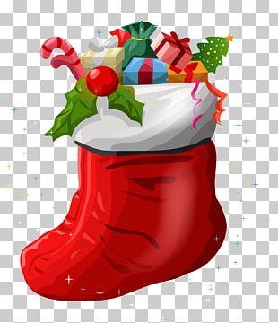 Christmas Stockings Santa Claus Gift Christmas Ornament PNG