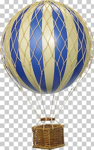 Hot Air Balloon Blue Color Red PNG