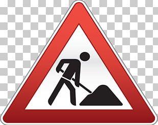 Roadworks Traffic Sign Signage Warning Sign PNG