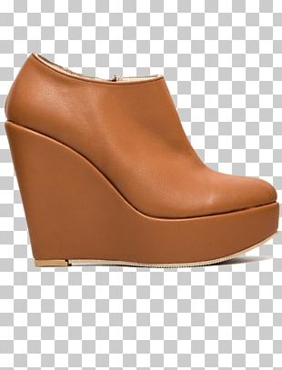 Brown Caramel Color Leather Boot PNG