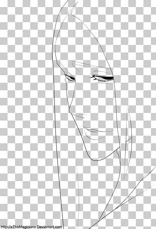 Eye Drawing Line Art Sketch PNG
