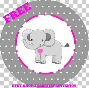 Elephant Cupcake Baby Shower Gift PNG