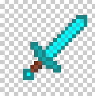 Minecraft Diamond Sword Video Games Weapon PNG