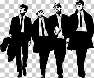 The Beatles Abbey Road Silhouette PNG