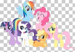 Rainbow Dash Rarity Pinkie Pie Twilight Sparkle Applejack PNG