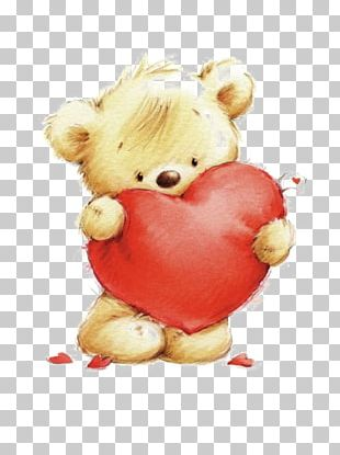 Teddy Bear Drawing Heart PNG