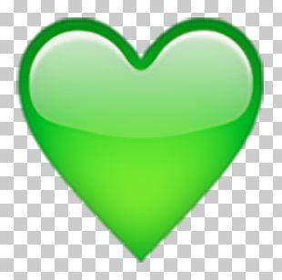 Heart Emoji Green Symbol Yellow PNG