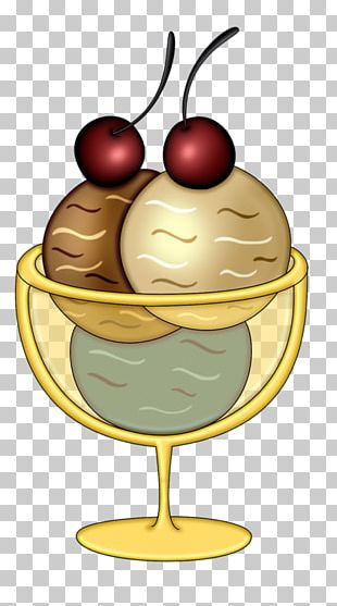 Ice Cream Cones Sundae Frozen Yogurt PNG
