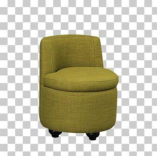 Club Chair Stool Living Room PNG