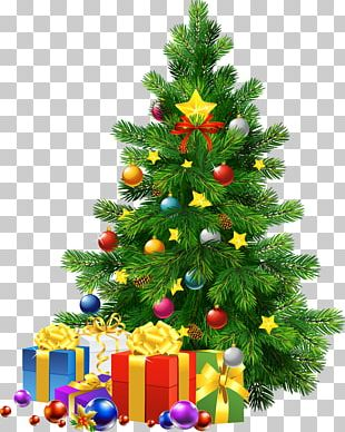 Santa Claus Christmas Day Christmas Tree PNG