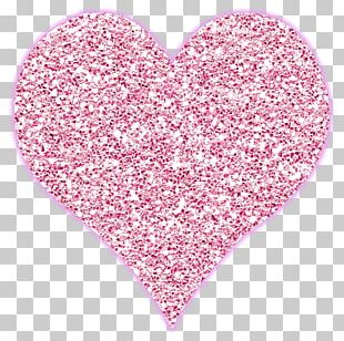 Glitter Heart Carpet Shag PNG
