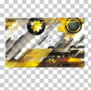 Yellow Technology Banner Background PNG
