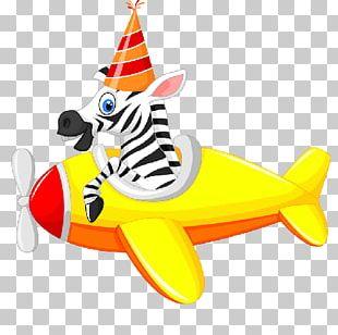 Airplane Funny Animal Cartoon Air Transportation PNG